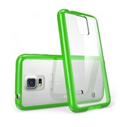 i-Blason Samsung Galaxy S5 Case, Clear Scratch Resistant Series with TPU Bumper, Clear/ Green