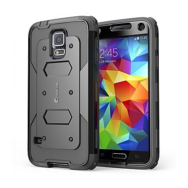 i-Blason Samsung Galaxy S5 Case, Armorbox Series Dual Layer Hybrid Hard / Soft Protective Case, Black