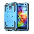 i-Blason Samsung Galaxy S5 Case, Armorbox Series Dual Layer Hybrid Hard / Soft Protective Case, Blue