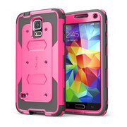 i-Blason Samsung Galaxy S5 Case, Armorbox Series Dual Layer Hybrid Hard / Soft Protective Case, Pink