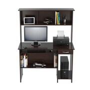 Inval America Computer Desk with Hutch Wood Desk
