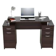 Inval America Standard Pedestal Computer Desk, Espresso Wengue (ES0403)