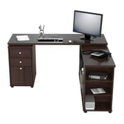 Inval America L-Desk with Shelves Wood
