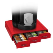 Mind Reader Anchor Coffee Pod Storage Drawer For 36 K-Cup, Red