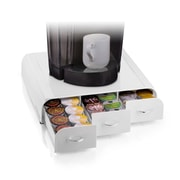 Mind Reader Anchor Coffee Pod Storage Drawer For 36 K-Cup, White