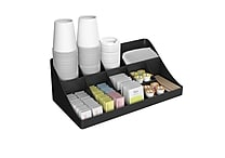 Mind Reader 13 Compartment Breakroom Condiment Organizer, Black