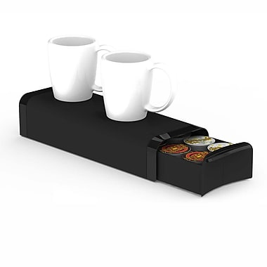 Mind Reader Slim Coffee Pod Storage Drawer For 12 K-Cup, Black