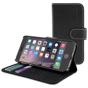 Snugg iPhone 6 Leather Flip Case in Black