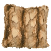 Wooded River Brandy Fox Fur Euro Faux Fur Throw Pillow