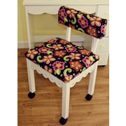 Arrow Sewing Chair with Underseat Storage; White