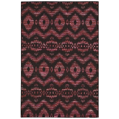 Nourison Spectrum Burgundy Black Rug; 8' x 10'6''
