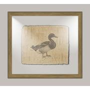 Melissa Van Hise Duck on Linen I Framed Art in Black