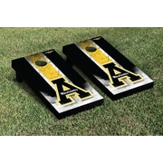 Victory Tailgate NCAA Appalachian State Mountaineers Vintage Wooden Logo Cornhole Game Set
