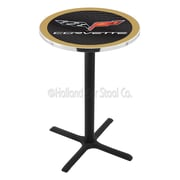 Holland Bar Stool Corvette - C6 36'' Pub Table; Black / Gold
