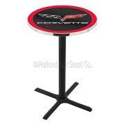 Holland Bar Stool Corvette - C6 42'' Pub Table; Black / Red