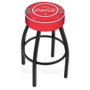 Holland Bar Stool Coca-Cola 30'' Swivel Bar Stool with Cushion; Black Wrinkle