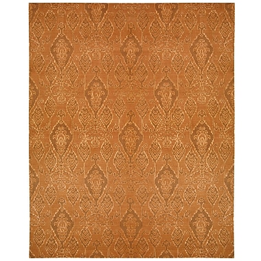 Nourison Silk Infusion Rust Dkrus Damask Area Rug; 8'6'' x 11'6''