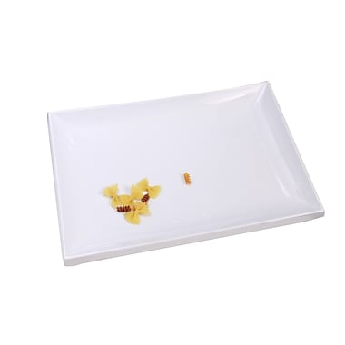 Shall Housewares Melamine Rectangular Serving Platter; White