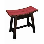 Groovystuff Moonshine Coda Saddle Seat Stool; Ruby