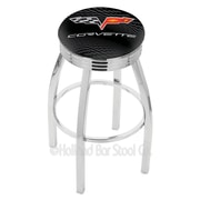 Holland Bar Stool Corvette - C6 25'' Swivel Bar Stool with Cushion; Chrome