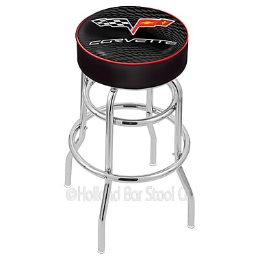 Holland Bar Stool Corvette - C6 25'' Swivel Bar Stool; Black / Red
