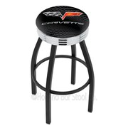 Holland Bar Stool Corvette - C6 30'' Swivel Bar Stool; Black Wrinkle