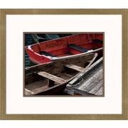 Melissa Van Hise Wooden Rowboats X Framed Art