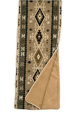 Wooded River Mountain Storm Bed Scarf; Queen WYF078277069900