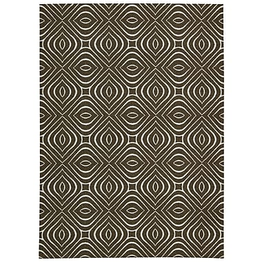 Nourison Enhance Chocolate Area Rug; 8' x 10'