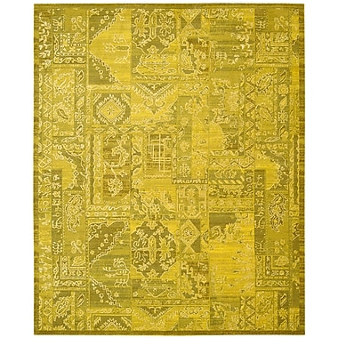 Nourison Silk Infusion Yellow Area Rug; 5'3'' x 7'5''