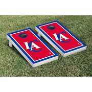 Victory Tailgate NBA Border Version Cornhole 10 Piece Game Set; Los Angeles Clippers