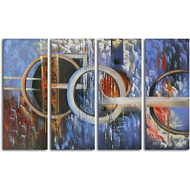 Omax Decor ''Ocean's Fourteen'' 4 Piece Original Painting on Canvas Set