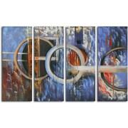 Omax Decor Hand Painted ''Ocean's Fourteen'' 4 Piece on Canvas Set