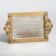 Abigails Vanity Tray with Faux Antique Mirror Surface; Gold Leaf