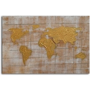 Omax Decor 'Bronzed Pangea' Painting on Canvas
