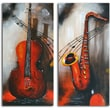 Omax Decor 'Take Notes' 2 Piece Painting on Canvas Set