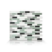 Smart Tiles Mosaik 10.25'' x 9.13'' Mosaic Tile in White & Soft Green