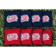 Victory Tailgate MLS Replacement All Weather Cornhole Game Bag Set; New England Revolution