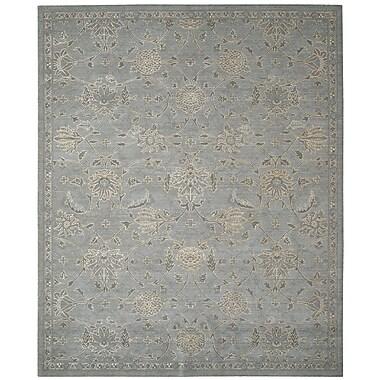Nourison Silk Infusion Grey Damask Area Rug; 7'9'' x 9'9''
