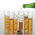 Abigails Champagne Flutes Glass (Set of 6); Gold
