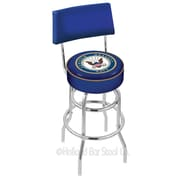 Holland Bar Stool US Armed Forces 30'' Swivel Bar Stool with Cushion; Navy