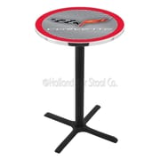 Holland Bar Stool Corvette - C6 42'' Pub Table; Silver / Red