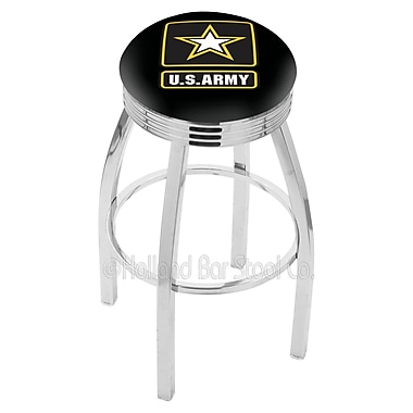 Holland Bar Stool US Armed Forces 25'' Swivel Bar Stool; Army