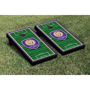 Victory Tailgate MLS Soccer Field Version 2 Cornhole Game Set; Orlando City Lions