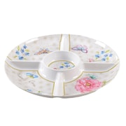 Shall Housewares Butterfly Round Chip & Dip Tray