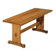 Just Cabinets Sedona Wood Trestle Kitchen Bench