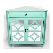 Heather Ann Wooden Corner Cabinet w/ 1 Drawer and 2 Doors; Green