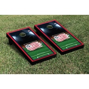 Victory Tailgate MLS Team Soccer Field Version 1 Cornhole Game Set; New England Revolution