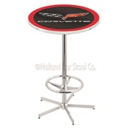 Holland Bar Stool Corvette - C6 Pub Table; Black / Red