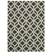 Nourison Enhance Chocolate/Blue Area Rug; 5' x 7'